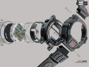 Capas de un Casio G-Shock