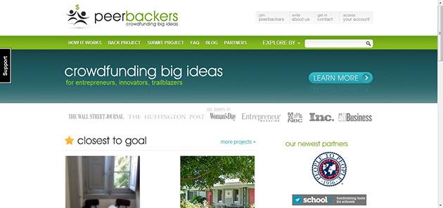 peerbackers plataforma financiación colectiva para proyectos empresariales o artísticos