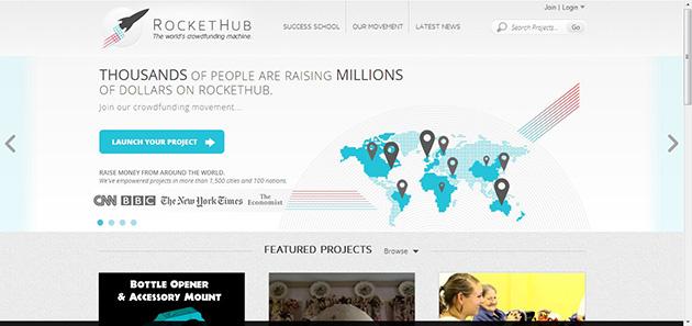 rockethub plataforma financiación colectiva para proyectos empresariales o científicos