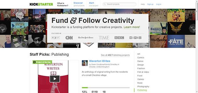 kickstarter plataforma financiación colectiva para proyectos empresariales o artísticos