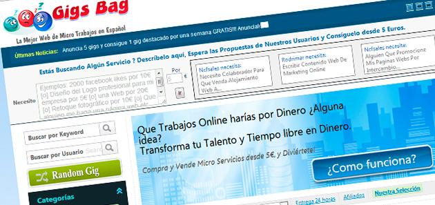gigsbags-alternativas a fiverr en español